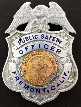 Fremont, CA 1st issue badge.