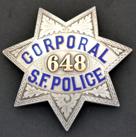 San Francisco Police Corporal badge #648, made by�