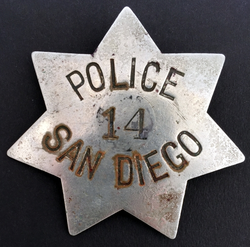 CA-SanDiego badge #141st issue.