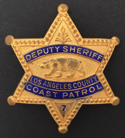 Los Angeles Co. Deputy Sheriff Coast Patrol.