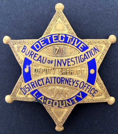 Los Angeles Co. Detective Bureau of Investigation DA's Office