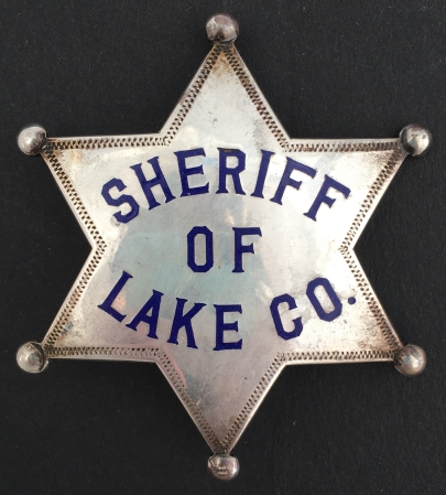 Sheriff George Washington Kemp, Lake Co. CA.